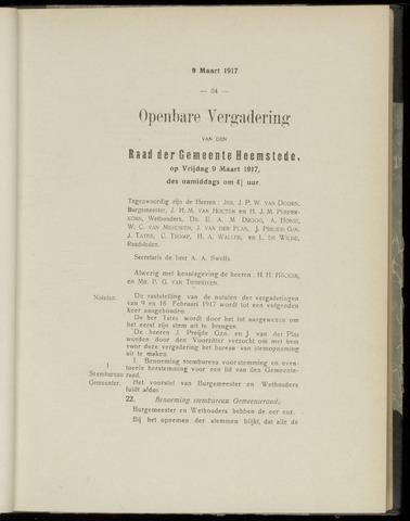 Raadsnotulen Heemstede 1917-03-09