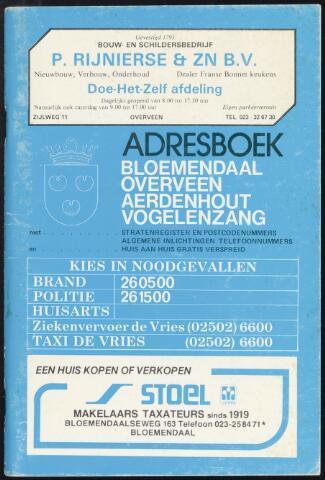 Adresboeken Bloemendaal 1980