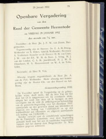 Raadsnotulen Heemstede 1932-01-29