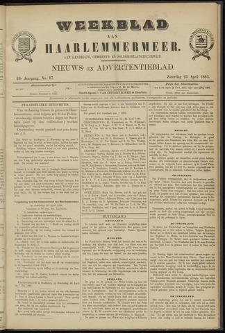 Weekblad van Haarlemmermeer 1885-04-25
