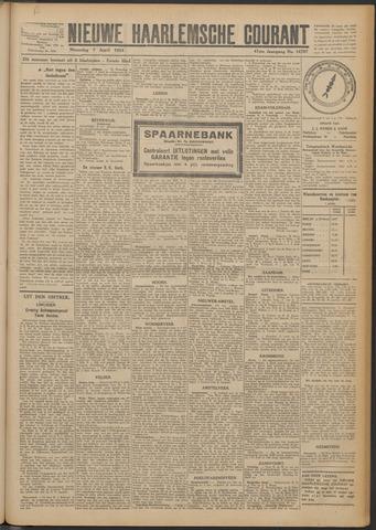 Nieuwe Haarlemsche Courant 1924-04-07