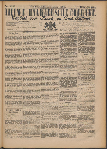Nieuwe Haarlemsche Courant 1903-11-26