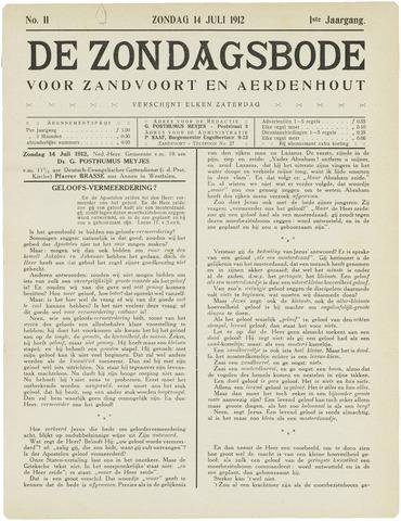 De Zondagsbode voor Zandvoort en Aerdenhout 1912-07-14