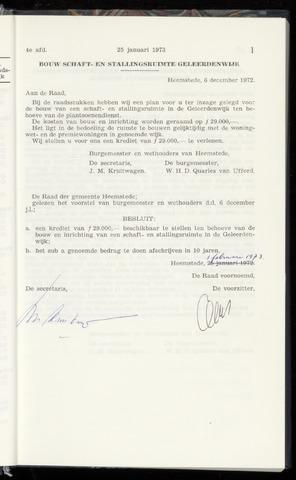 Raadsnotulen Heemstede 1973-01-25