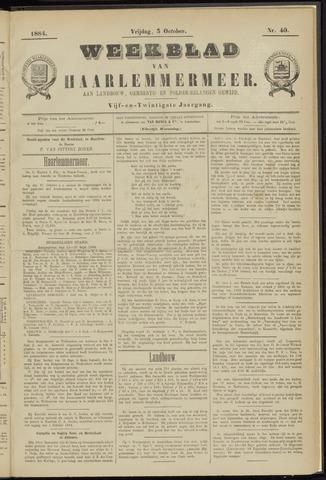 Weekblad van Haarlemmermeer 1884-10-03
