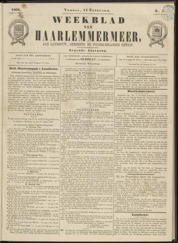 Weekblad van Haarlemmermeer 1868-02-14