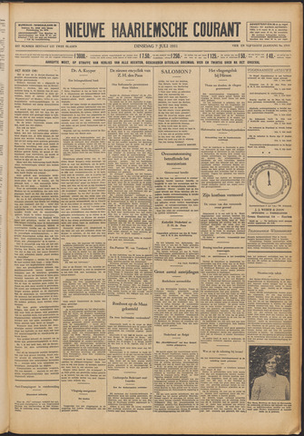 Nieuwe Haarlemsche Courant 1931-07-07
