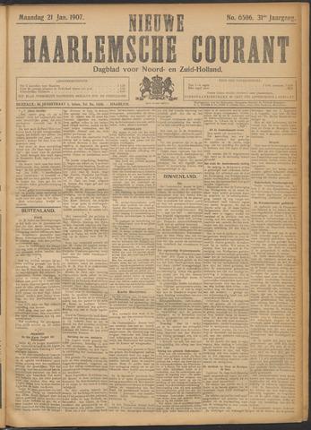 Nieuwe Haarlemsche Courant 1907-01-21