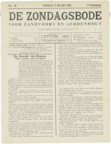 De Zondagsbode voor Zandvoort en Aerdenhout 1913-03-09