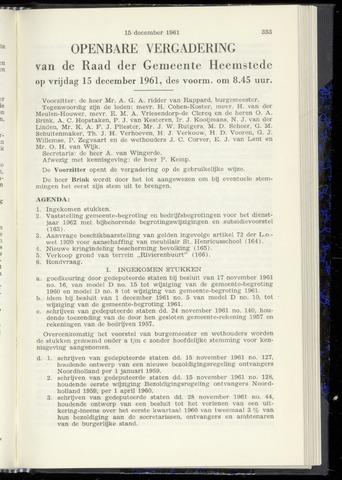 Raadsnotulen Heemstede 1961-12-15
