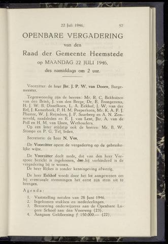 Raadsnotulen Heemstede 1946-07-22