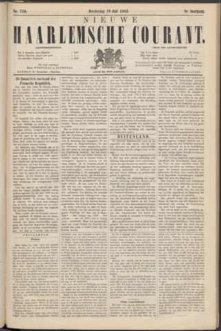 Nieuwe Haarlemsche Courant 1883-07-19