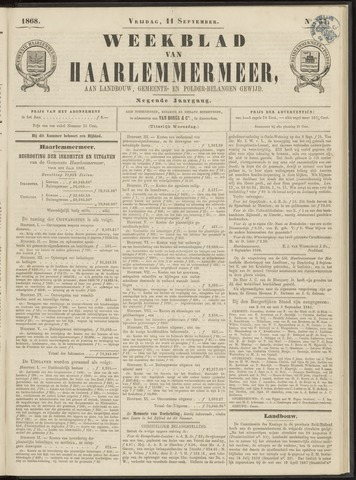 Weekblad van Haarlemmermeer 1868-09-11