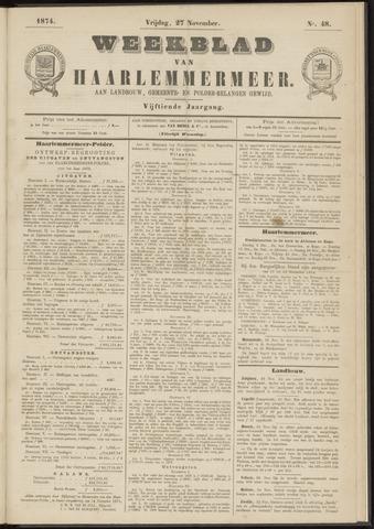 Weekblad van Haarlemmermeer 1874-11-27