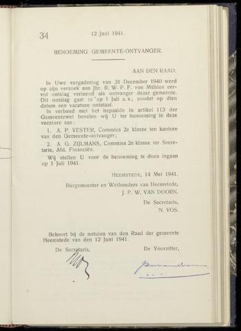 Raadsnotulen Heemstede 1941-06-12