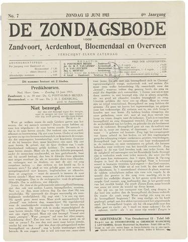 De Zondagsbode voor Zandvoort en Aerdenhout 1915-06-13