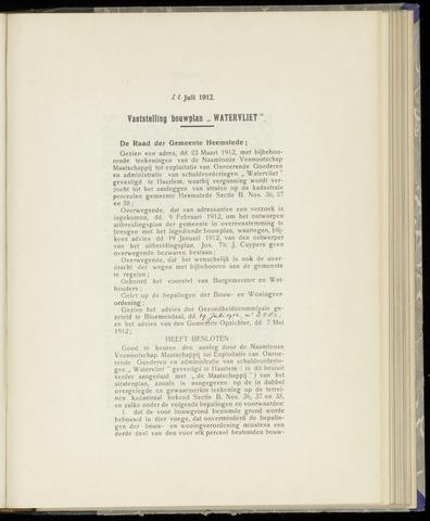 Raadsnotulen Heemstede 1912-07-22