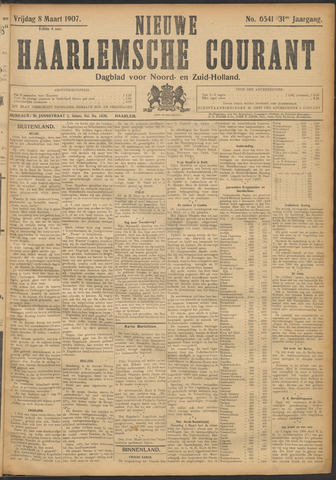 Nieuwe Haarlemsche Courant 1907-03-08