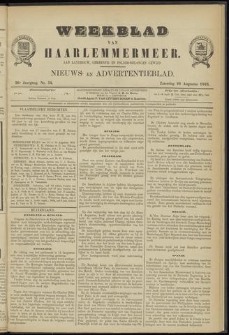 Weekblad van Haarlemmermeer 1885-08-22