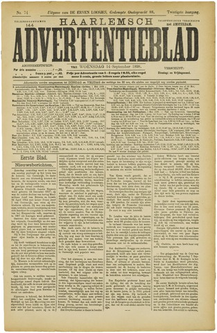Haarlemsch Advertentieblad 1898-09-14