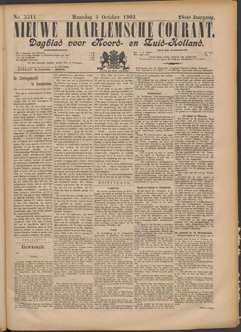 Nieuwe Haarlemsche Courant 1903-10-05