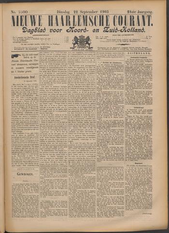 Nieuwe Haarlemsche Courant 1903-09-22