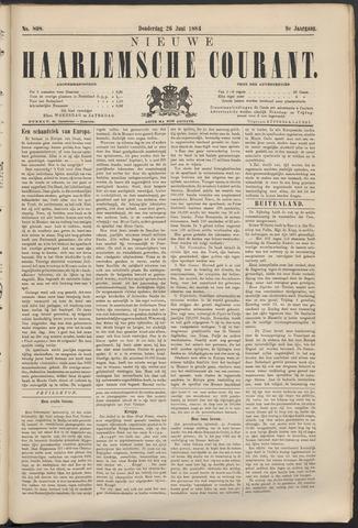 Nieuwe Haarlemsche Courant 1884-06-26
