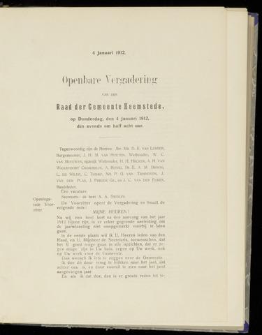 Raadsnotulen Heemstede 1912-01-04