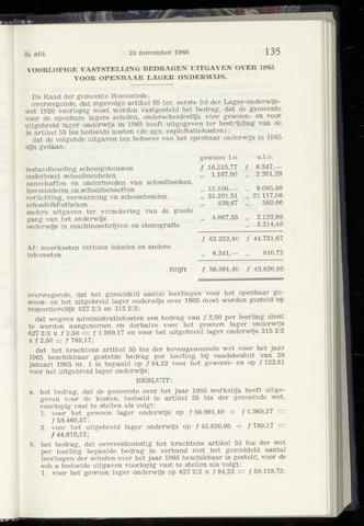 Raadsnotulen Heemstede 1966-11-24