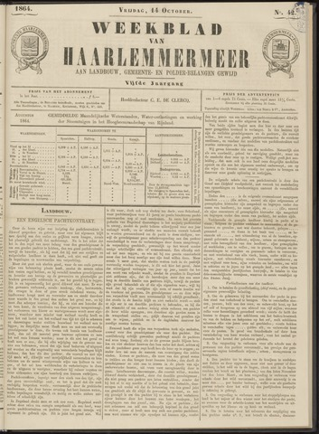 Weekblad van Haarlemmermeer 1864-10-14