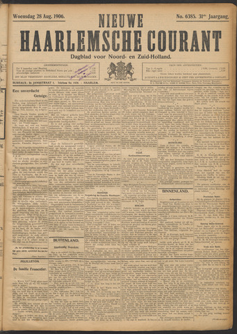Nieuwe Haarlemsche Courant 1906-08-29