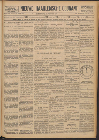 Nieuwe Haarlemsche Courant 1930-10-23