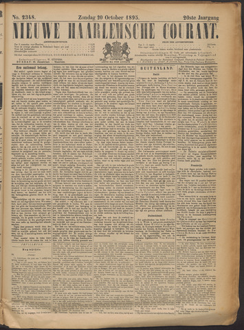 Nieuwe Haarlemsche Courant 1895-10-20
