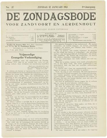 De Zondagsbode voor Zandvoort en Aerdenhout 1913-01-12