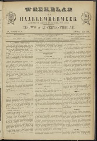 Weekblad van Haarlemmermeer 1885-07-04