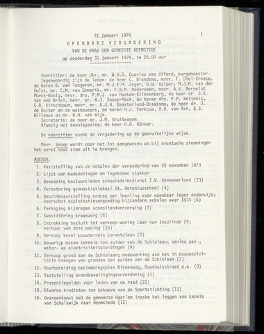Raadsnotulen Heemstede 1974-01-31