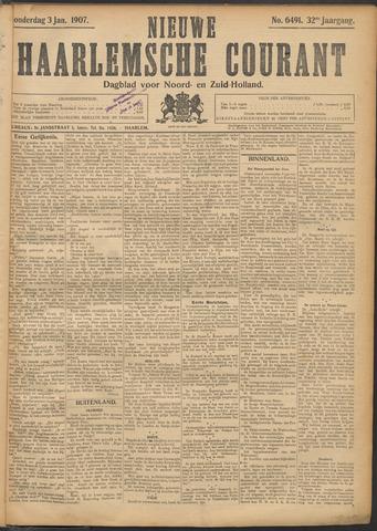 Nieuwe Haarlemsche Courant 1907-01-03