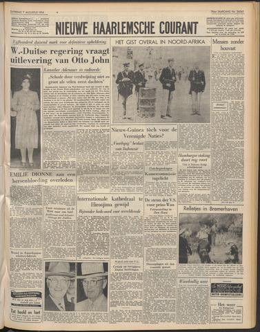 Nieuwe Haarlemsche Courant 1954-08-07