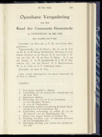 Raadsnotulen Heemstede 1932-05-26