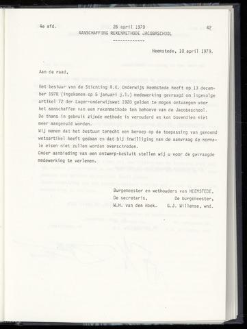 Raadsnotulen Heemstede 1979-04-26