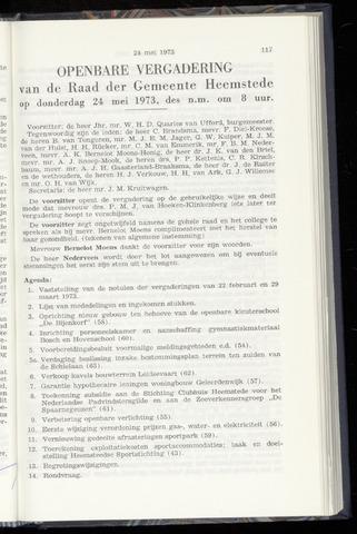 Raadsnotulen Heemstede 1973-05-24