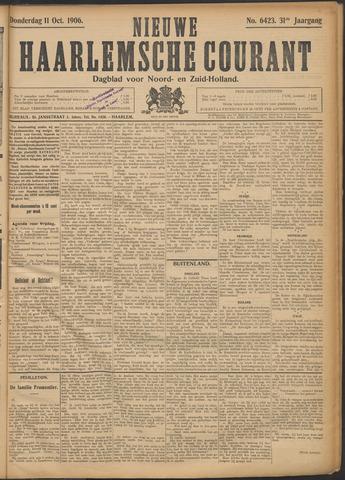 Nieuwe Haarlemsche Courant 1906-10-11