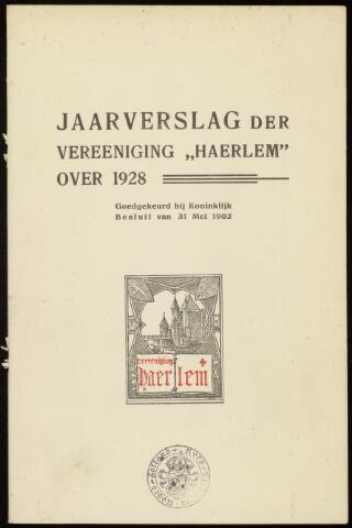 Jaarverslagen en Jaarboeken Vereniging Haerlem 1928
