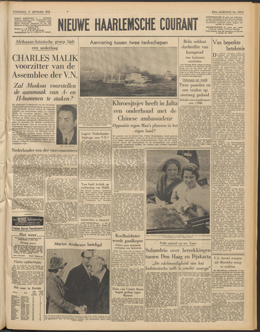 Nieuwe Haarlemsche Courant 1958-09-17