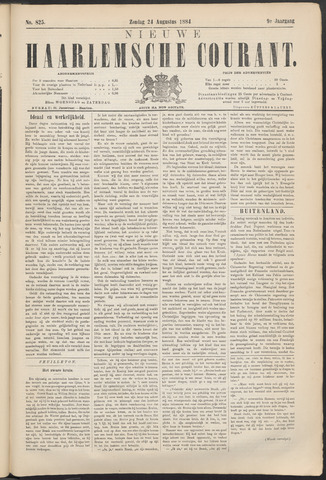 Nieuwe Haarlemsche Courant 1884-08-24