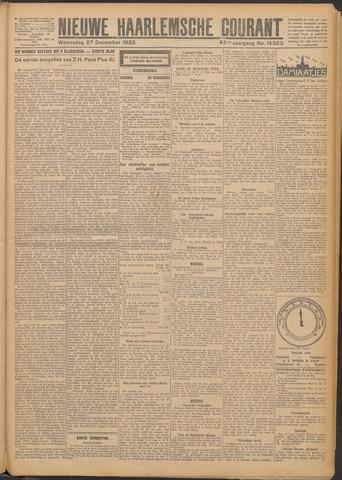 Nieuwe Haarlemsche Courant 1922-12-27