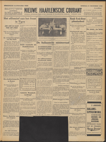 Nieuwe Haarlemsche Courant 1935-12-31