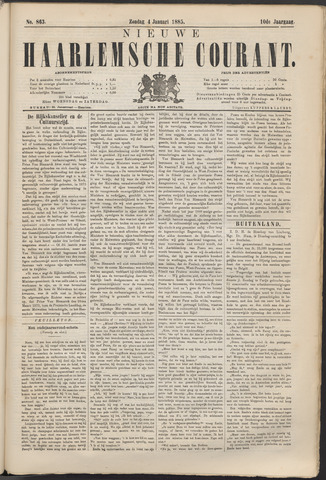 Nieuwe Haarlemsche Courant 1885-01-04