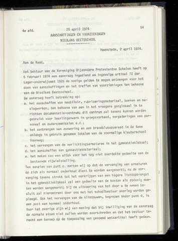 Raadsnotulen Heemstede 1974-04-25