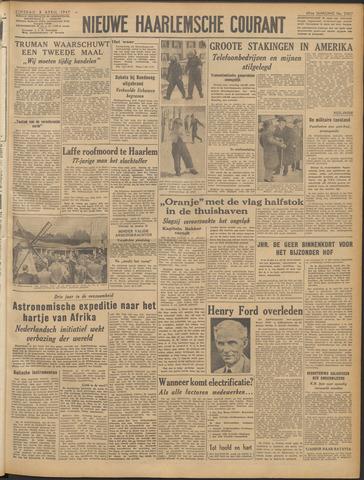 Nieuwe Haarlemsche Courant 1947-04-08
